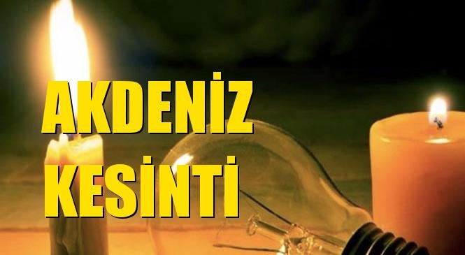 Akdeniz Elektrik Kesintisi 21 Eylül Pazartesi