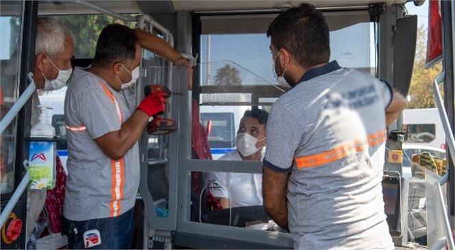 """Mersin'de Toplu Taşımada """"Şeffaf Kabin"""" Dönemi! Toplu Taşıma Araçlarında Sürücü ve Yolcuların Sağlığı İçin Tedbirler Üst Seviyede"""