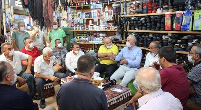 Akdeniz Belediye Başkanı Gültak; Tarihi Zafer Çarşısı Esnafını Ziyaret Etti