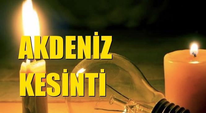 Akdeniz Elektrik Kesintisi 30 Eylül Çarşamba
