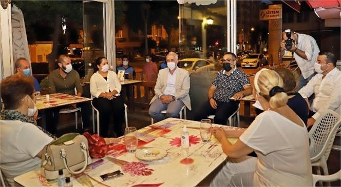 Akdeniz Belediye Başkanı Gültak; Çamlıbel Esnafını Ziyaret Etti