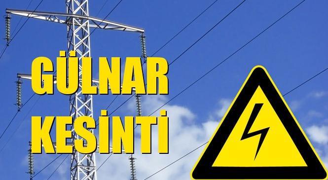 Gülnar Elektrik Kesintisi 06 Ekim Salı