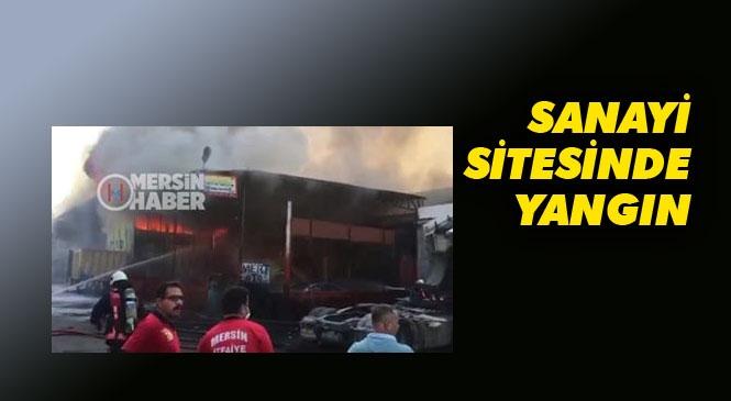 Mersin Tırmıl Sanayi Sitesindeki Bir Depoda Yangın Çıktı