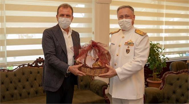 Başkan Seçer'den Tuğamiral Gedik'e Hoşgeldin Ziyareti