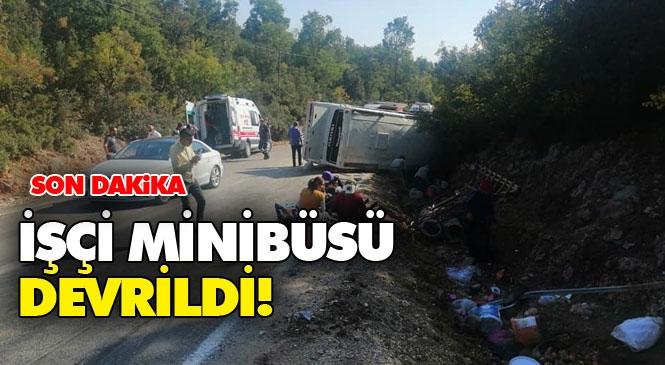 Adana'dan Gelen İşçi Grubunu Taşıyan Minibüs Mersin Erdemli Devrent'te Devrildi: 1 Kişi Öldü, 25 Kişi Yaralı