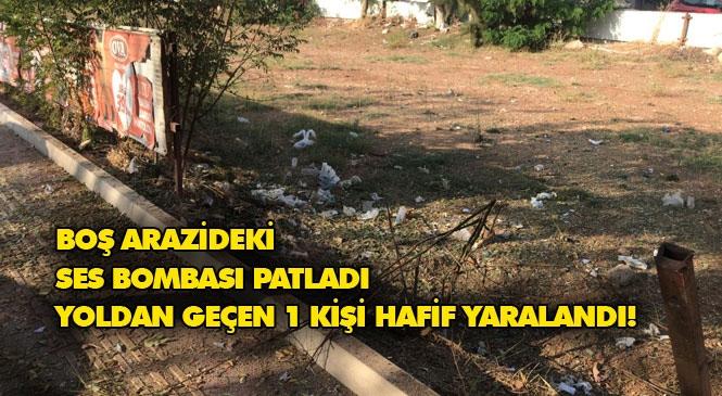 Mersin Yenişehir Forum Civarı Patlama İçin Valilikten Açıklama: Boş Arazide Patlayan Ses Bombası Nedeniyle Yoldan Geçen 1 Kişi Hafif Yaralandı