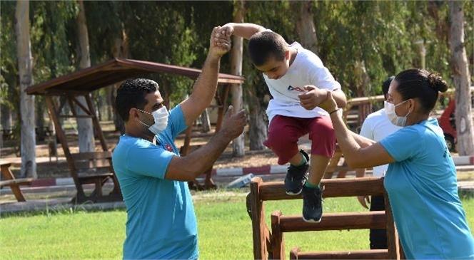 Özel Çocuklar İçin Tarsus Gençlik Kampı'nda Özel Bir Gün! Mersin Büyükşehir, Pandemi Sürecinde Özel Gereksinimli Çocukları Unutmadı