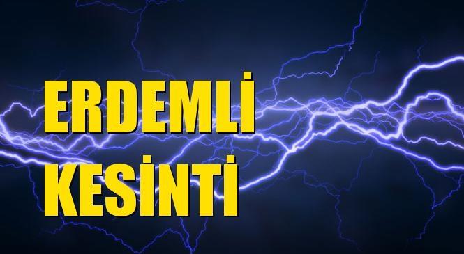 Erdemli Elektrik Kesintisi 24 Ekim Cumartesi