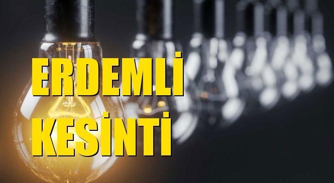 Erdemli Elektrik Kesintisi 29 Ekim Perşembe