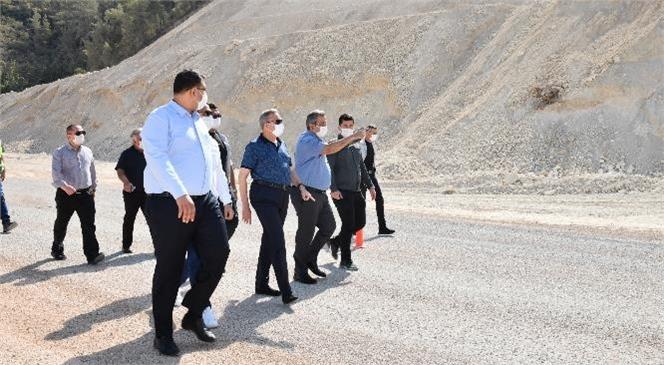 Vali Su, Silifke'de Karayolu Yatırımlarını İnceledi