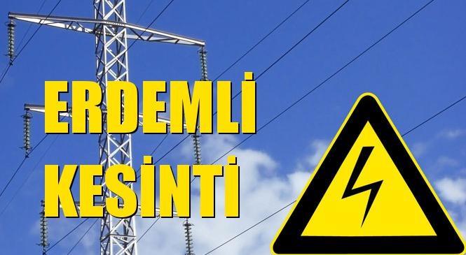 Erdemli Elektrik Kesintisi 31 Ekim Cumartesi