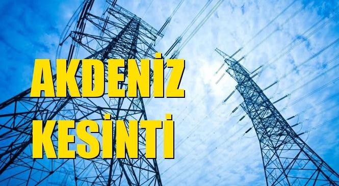 Akdeniz Elektrik Kesintisi 01 Kasım Pazar