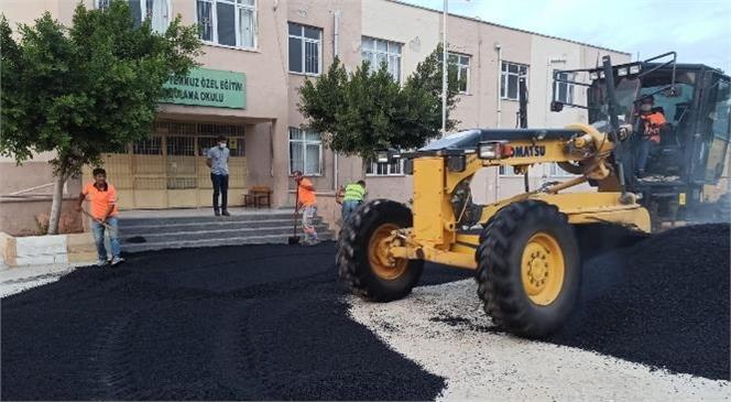 Tarsus 15 Temmuz Özel Eğitim Uygulama Okulu Bahçesi Büyükşehir Tarafından Sıcak Asfaltla Kaplandı
