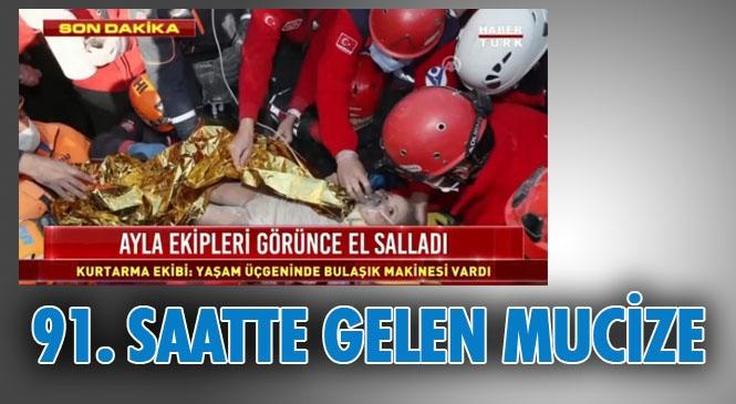 İzmir'de Meydana Gelen 6.9'luk Depremin Üzerinden Geçen 91. Saatte Ayda Bebek Mucizesi Enkazdan Sağ Kurtarıldı