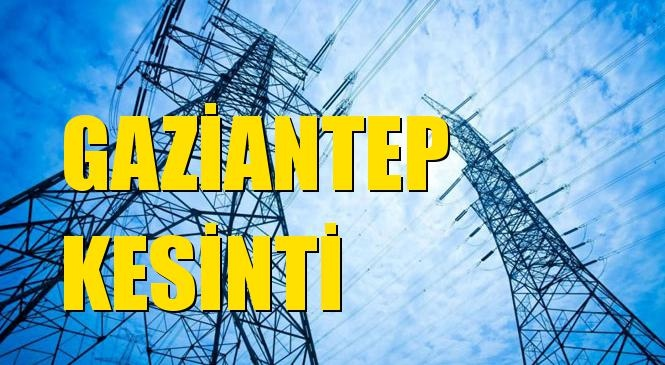 Gaziantep Elektrik Kesintisi 09 Kasım Pazartesi