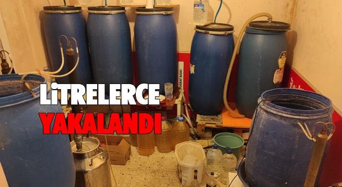Varil Varil Sahte İçki Yakalandı! Mersin'de Sahte ve Kaçak İçkiye Yönelik Operasyonlar Devam Ediyor