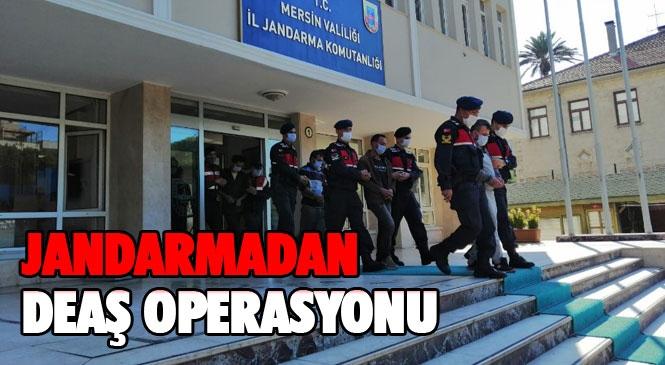 Mersin'de Eş Zamanlı Olarak 4 Adrese Yapılan Baskında DEAŞ Terör Örgütü İle İlişkili Eylem Hazırlığında Olan 6 Şüpheli Şahıs Yakalanarak Gözaltına Alındı