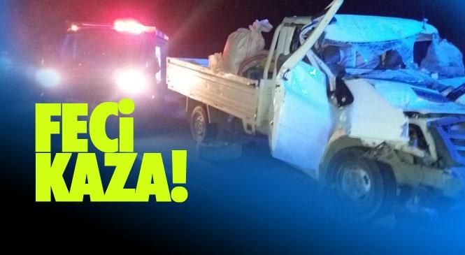 Karaman Yolunda Kaza! Mersin'in Mut İlçesinde Meydana Gelen Korkunç Kazada 2 Kişi Hayatını Kaybetti, 2 Kişi de Yaralandı