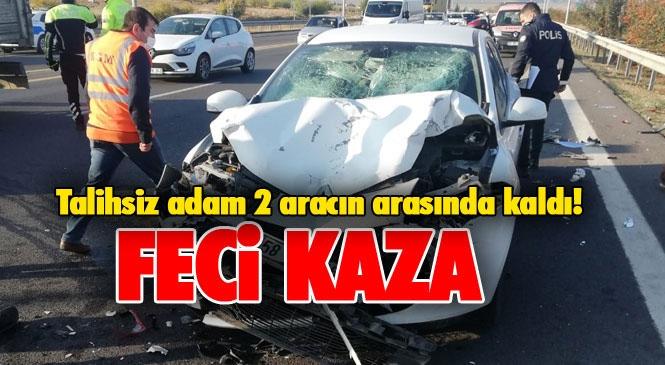 2 Otomobilin Arasında Kalan Adam Hayatını Kaybetti! Mersin Tarsus Otoyolundaki Kazada Mehmet Fatlı Özger Hayatını Kaybetti