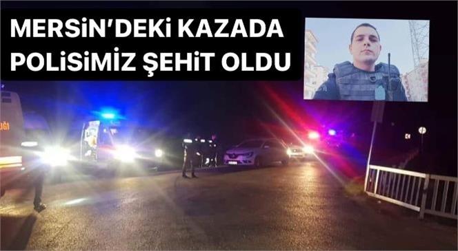 Mersin Tarsus'ta İçinde 5 Polisin Olduğu Minibüs Şarampole Devrildi: Ömer Faruk Tekağaç İsimli Polisimiz Şehit Oldu
