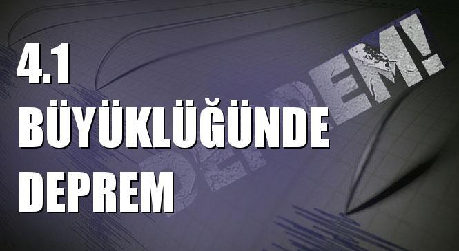 Merkez Üssü SISAM ADASI (Ege Denizi) olan 4.1 Büyüklüğünde Deprem Meydana Geldi