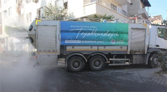Akdeniz Belediye Ekipleri, Sokağa Çıkma Yasağında, Her Mahalleye Hizmet Veriyor