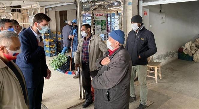 Büyükşehir'den Tarsus Hal Esnafına Maske