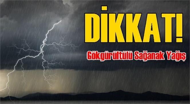 Dikkat Mersin! Meteoroloji Müdürlüğü Uyardı: Gök Gürültülü Sağanak Yağış Geliyor