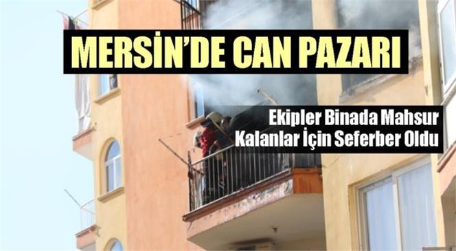 Mersin'in Merkez Yenişehir İlçesinde Site İçindeki Bir Apartmanda Yangın Çıktı: Yangında Bir Aile Mağdur Oldu