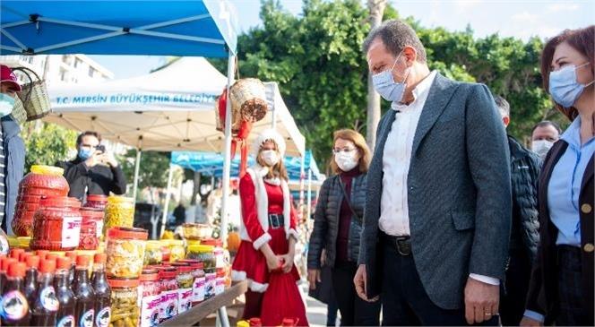 Mersin Büyükşehir'den Yılbaşı Öncesi Kadın Üreticilere Destek