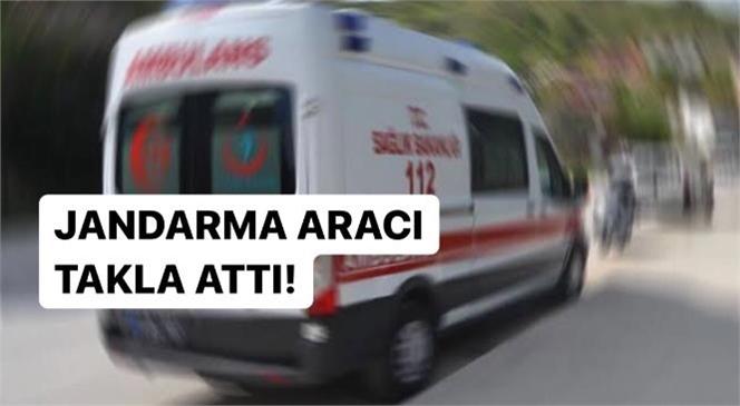 Mersin Tarsus Yeşiltepe Yolunda Meydana Gelen Kazada Jandarma Aracı Takla Attı: 4 Yaralı