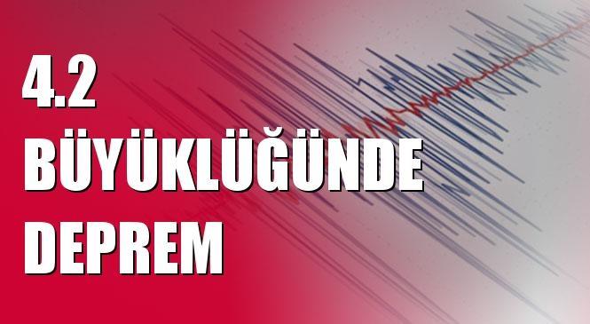 Merkez Üssü Akdeniz (Muğla) Olan 4.2 Büyüklüğünde Deprem Meydana Geldi