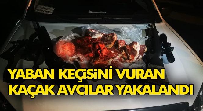 Mersin Tarsus'ta Yaban Keçisini Kaçak Avlayan Şahıslara 37 Bin 671 Ayrı, 12 Bin 720 TL Ayrı Olmak Üzere 50.391 TL Para Cezası Yazıldı