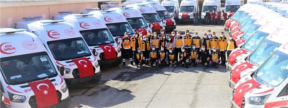 Mersin Acil Sağlık Hizmetlerine Ambulans Takviyesi