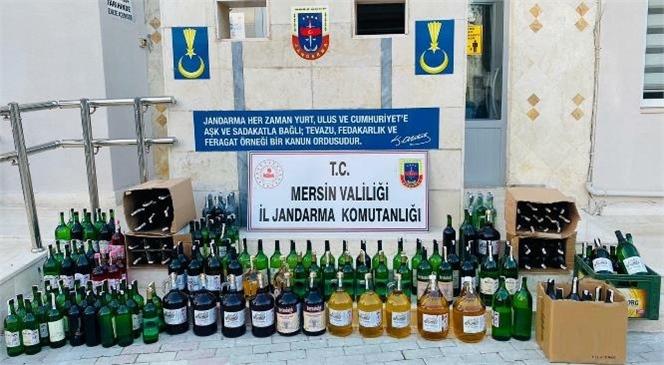 Mersin Silifke'de Kaçak Alkol İmal ve Ticareti Yapılan Yere Operasyon 232 Litre Kaçak Şarap Yakalandı