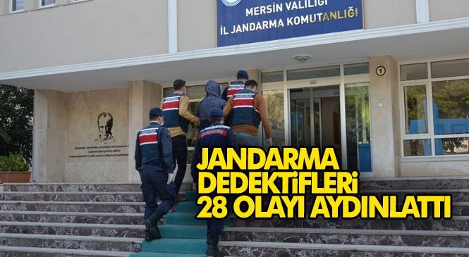Mersin'de Jandarma Dedektifleri Olarak Anılan Jasat Timlerinin İzini Sürüp Yakaladığı Şahıs ve Ortağı Toplamda 28 Evden Hırsızlık Yapmış