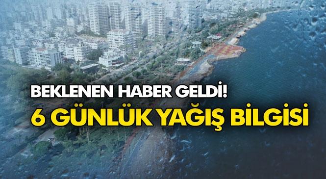 Mersin'e Yağmur Müjdesi! Hafta Sonu Ilık ve Yağışlı, Önümüzdeki Hafta Ortasında Soğuk ve Yağışlı Sistemler Geliyor!