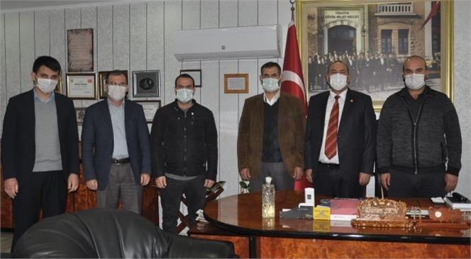 HÜDA PAR Tarsus İlçe Başkanından Şoförler ve Otomobilciler Odasına Ziyaret