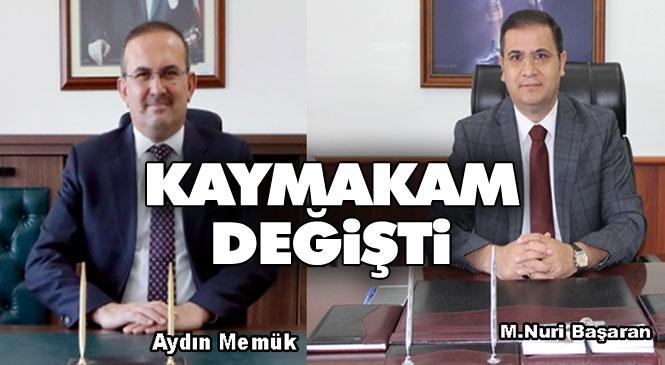 Anamur Mevcut Kaymakamı M. Nuri Başaran, Mersin Valiliği Hukuk Müşavirliğine Tayin Edildi Yerine İzmir Vali Yardımcısı Aydın Memük Geldi