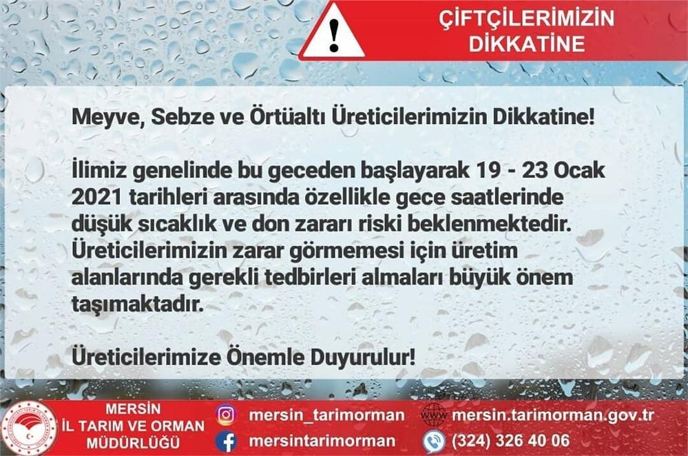 Zirai Don Uyarısının Yapıldığı Mersin'de Sıcaklığın -4 Dereceleri Bulan Gecenin Sabahında Karalahanadan Buz Kütlesi Çıktı