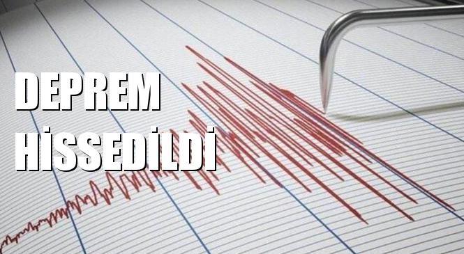 Mersin'de Hissedilen Deprem Korku Yarattı! Merkez Üssü Yeniköy - Toroslar (Mersin) Olan 3.4 Büyüklüğünde Deprem Meydana Geldi