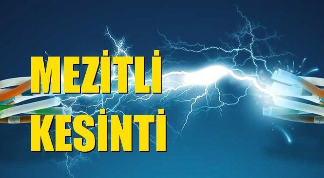 Mezitli Elektrik Kesintisi 28 Ocak Perşembe