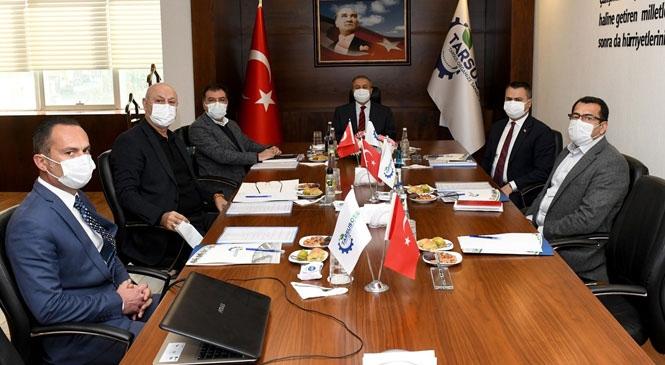 Mersin Valisi Su, OSB Toplantılarına Başkanlık Etti