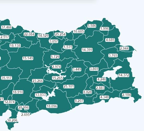 Mersin'de Aşılanan Sayısı 30 Ocak 2021 Cumartesi Saat 01.57 İtibari İle 45 Bini Geçti