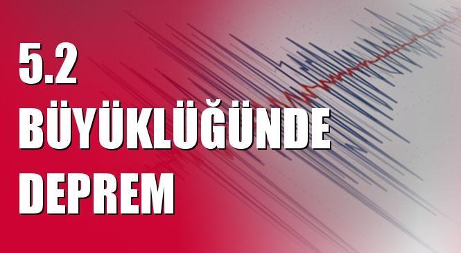 Merkez Üssü EGE DENIZI olan 5.2 Büyüklüğünde Deprem Meydana Geldi