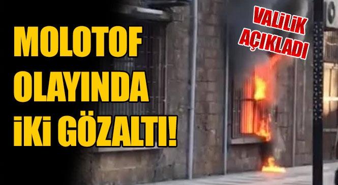 Mersin Büyükşehir Belediyesi Taş Binaya Molotof Atılması Olayı İle İlgili 2 Kişi Yakalandı!