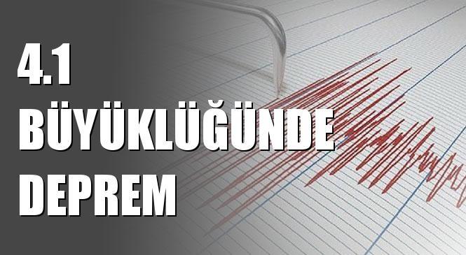 Merkez Üssü Ege Denizi Olan 4.1 Büyüklüğünde Deprem Meydana Geldi