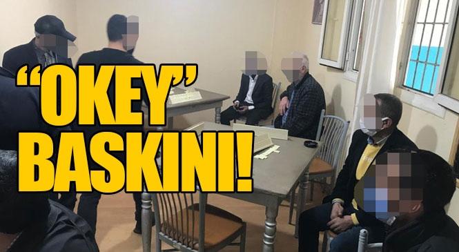 Mersin Tarsus'ta Yasak Olmasına Rağmen Kıraathanede Oyun Oynayanlara Baskın, 13 Kişiye 40 Bin Liranın Üzerinde Ceza Yazıldı