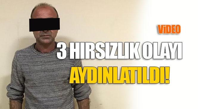 Mersin Tarsus'ta Meydana Gelen 3 Faili Meçhul Hırsızlık Olayını Aydınlatan Polis, Zanlıyı Yakaladı