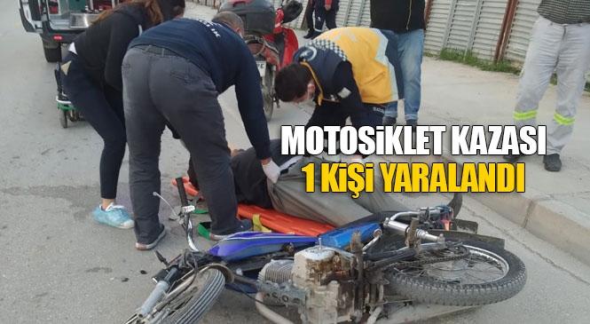 Mersin Tarsus'ta Devrilen Motosikletin Sürücüsü Hafif Yaralandı